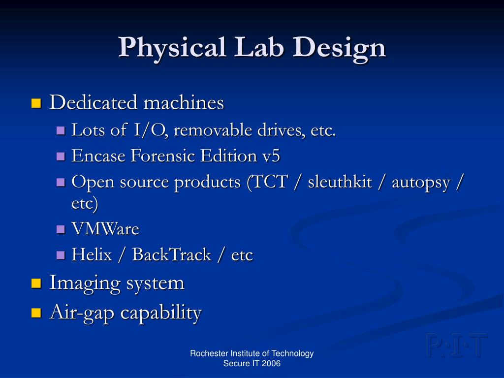 Physical Lab Design