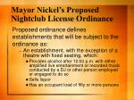 mayor nickel s proposed nightclub license ordinance