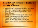 seattlenma formed to tackle a variety of issues