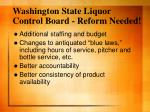 washington state liquor control board reform needed