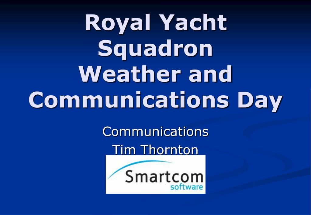 royal yacht squadron weather and communications day l.