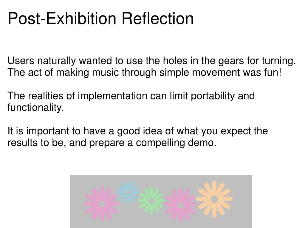 Post-Exhibition Reflection