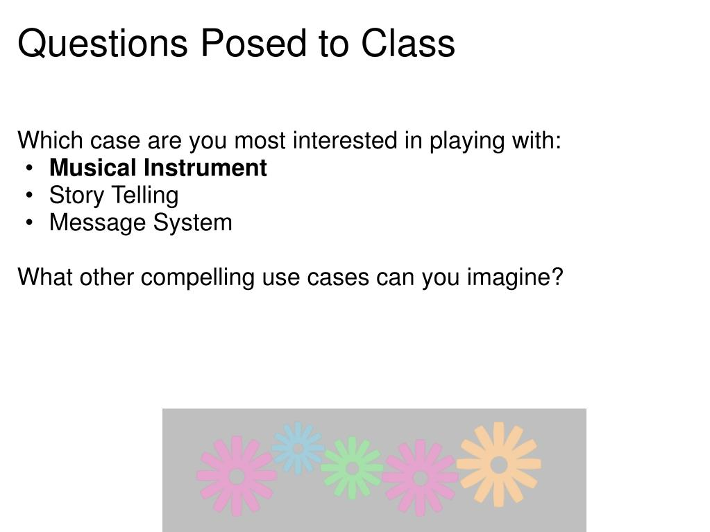 Questions Posed to Class