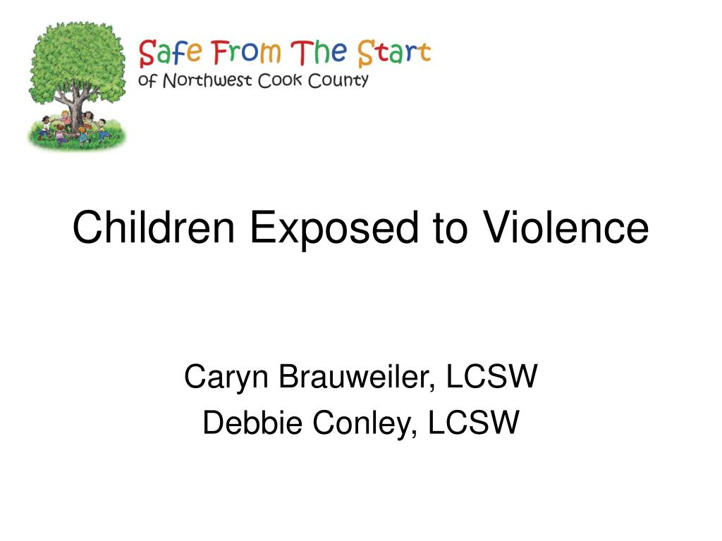 children exposed to violence l.