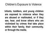 children s exposure to violence
