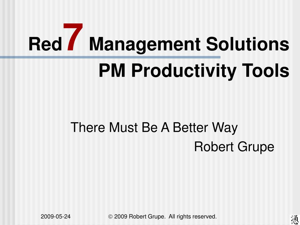 red 7 management solutions pm productivity tools l.