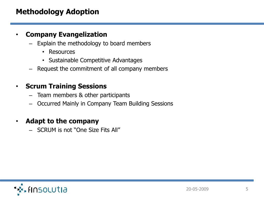 Methodology Adoption