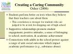 creating a caring community osher 2006