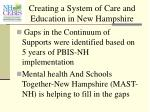 creating a system of care and education in new hampshire