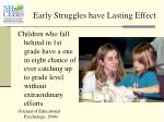 early struggles have lasting effect
