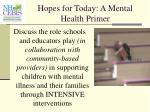 hopes for today a mental health primer7