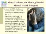 many students not getting needed mental health supports