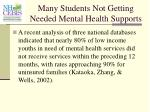 many students not getting needed mental health supports40