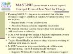 mast nh mental health schools together emerged from a clear need for change