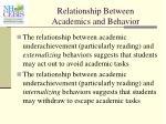 relationship between academics and behavior