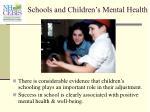 schools and children s mental health