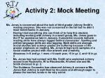 activity 2 mock meeting