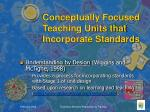 conceptually focused teaching units that incorporate standards