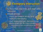 exemplary instruction