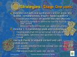 strategies s tage one cont