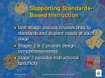 supporting standards based instruction