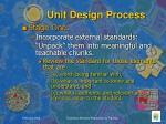 unit design process