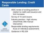 responsible lending credit cards