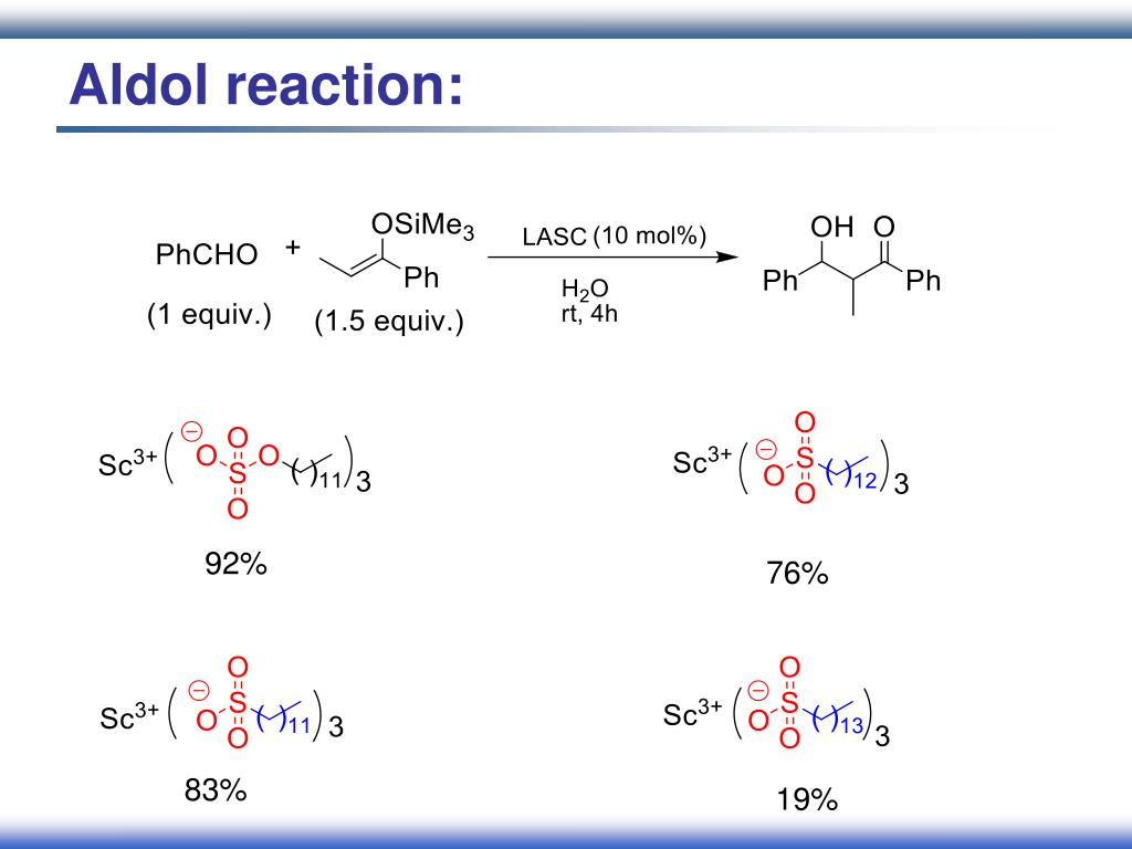 Aldol reaction:
