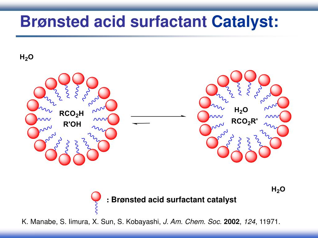 Brønsted acid surfactant