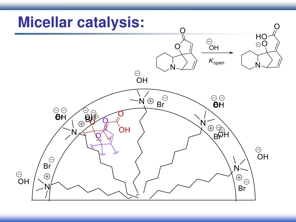 Micellar catalysis: