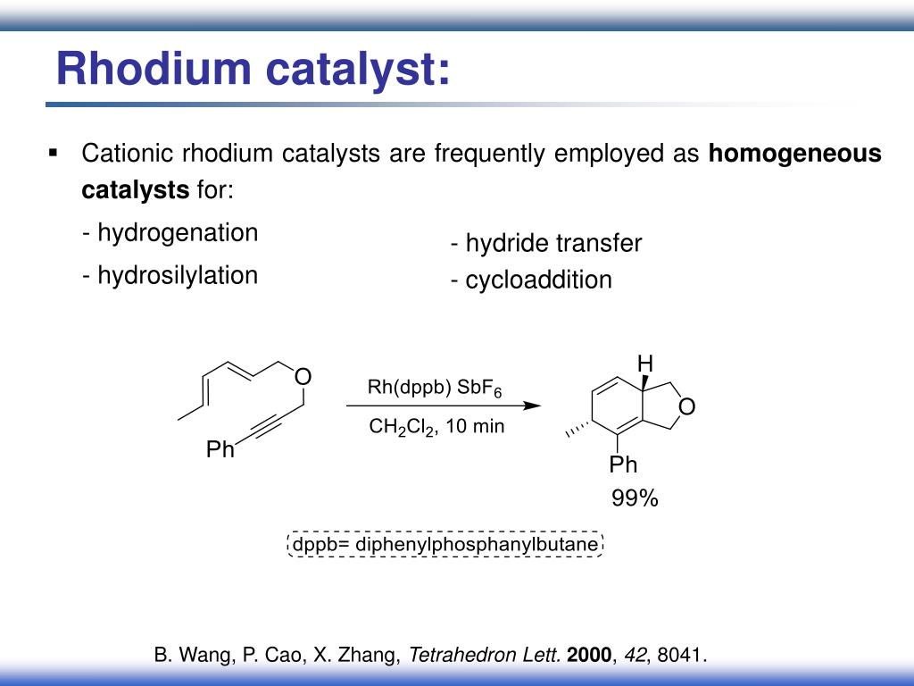 Rhodium catalyst:
