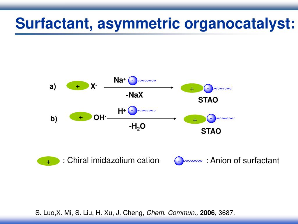 Surfactant, asymmetric organocatalyst: