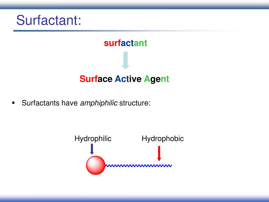 Surfactant: