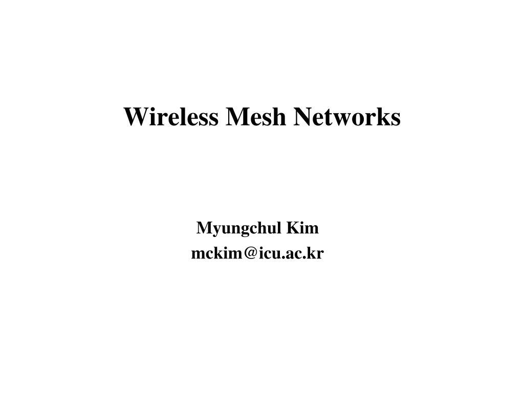 wireless mesh networks l.