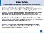 blood safety guidances addressing agents of emerging infectious diseases
