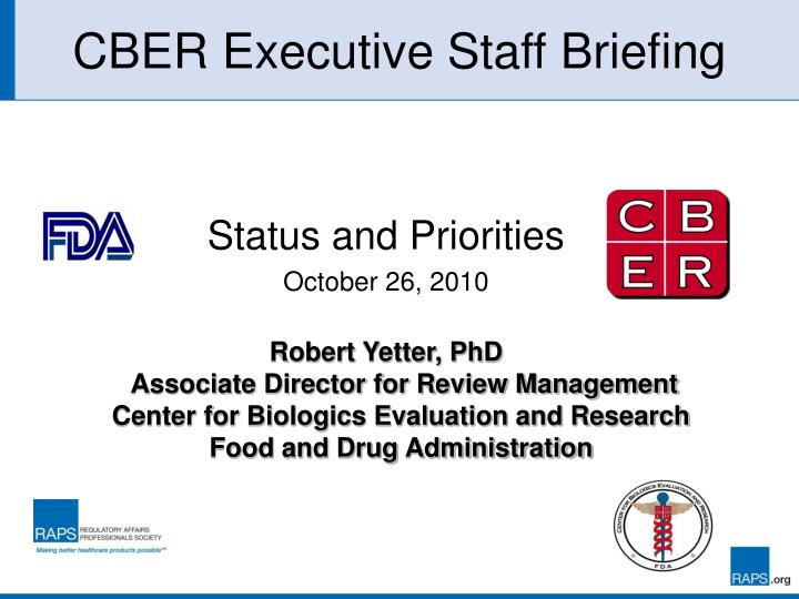 cber executive staff briefing n.