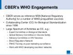 cber s who engagements