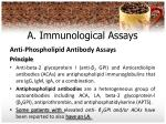 a immunological assays