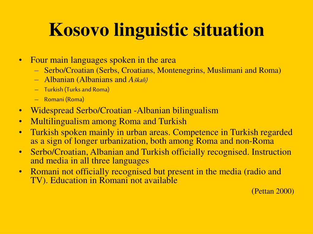 Kosovo linguistic situation