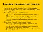 linguistic consequences of diaspora