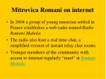 mitrovica romani on internet