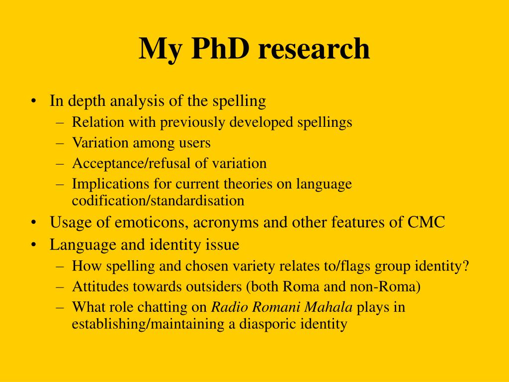 My PhD research