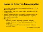 roma in kosovo demographics