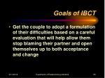 goals of ibct