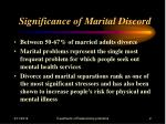 significance of marital discord