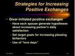 strategies for increasing positive exchanges