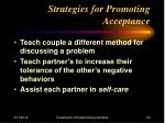 strategies for promoting acceptance