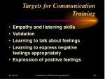 targets for communication training