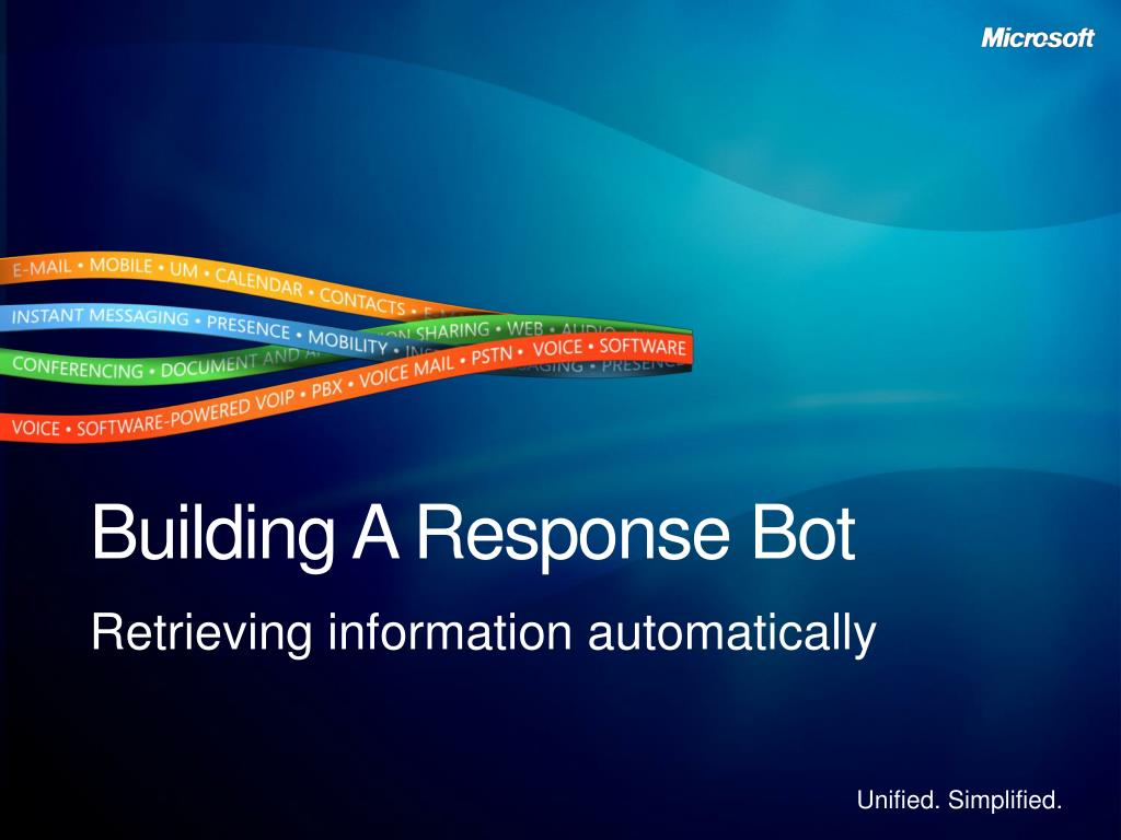 Building A Response Bot