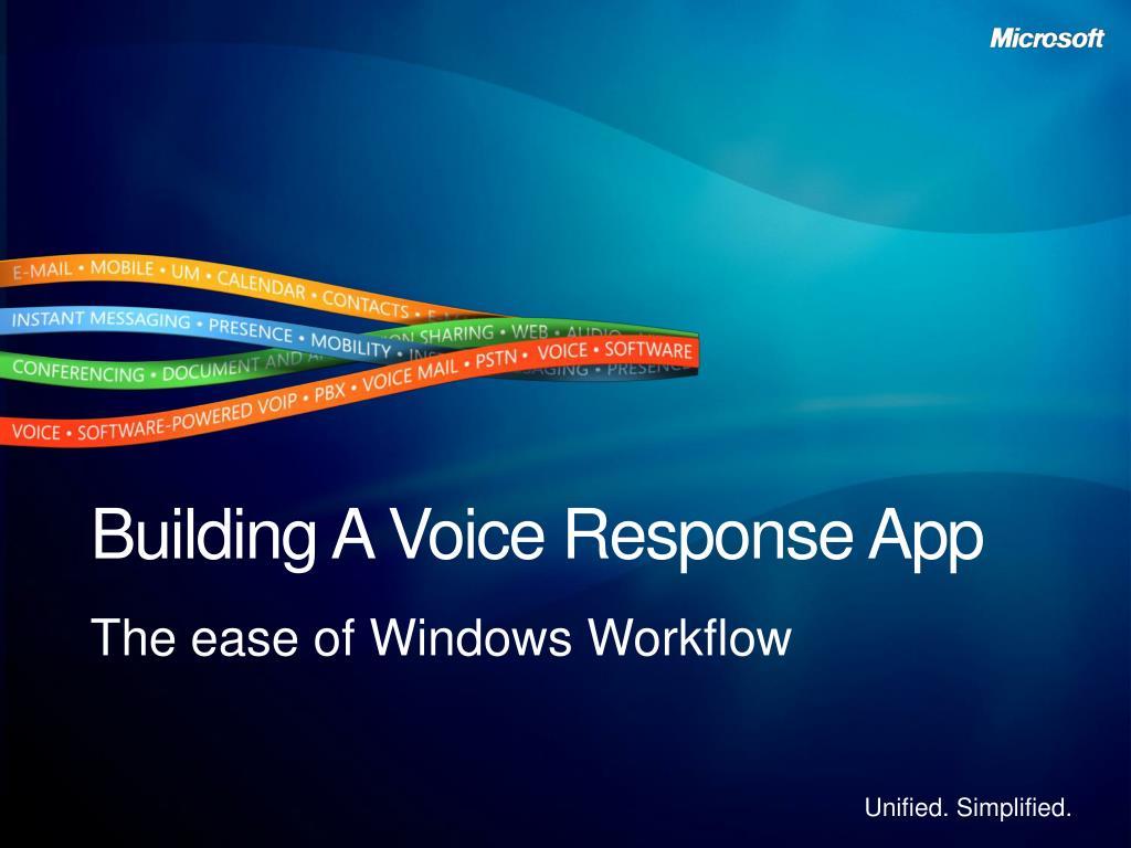 Building A Voice Response App